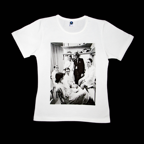 Premium organic white T-shirt, Yves Saint Laurent