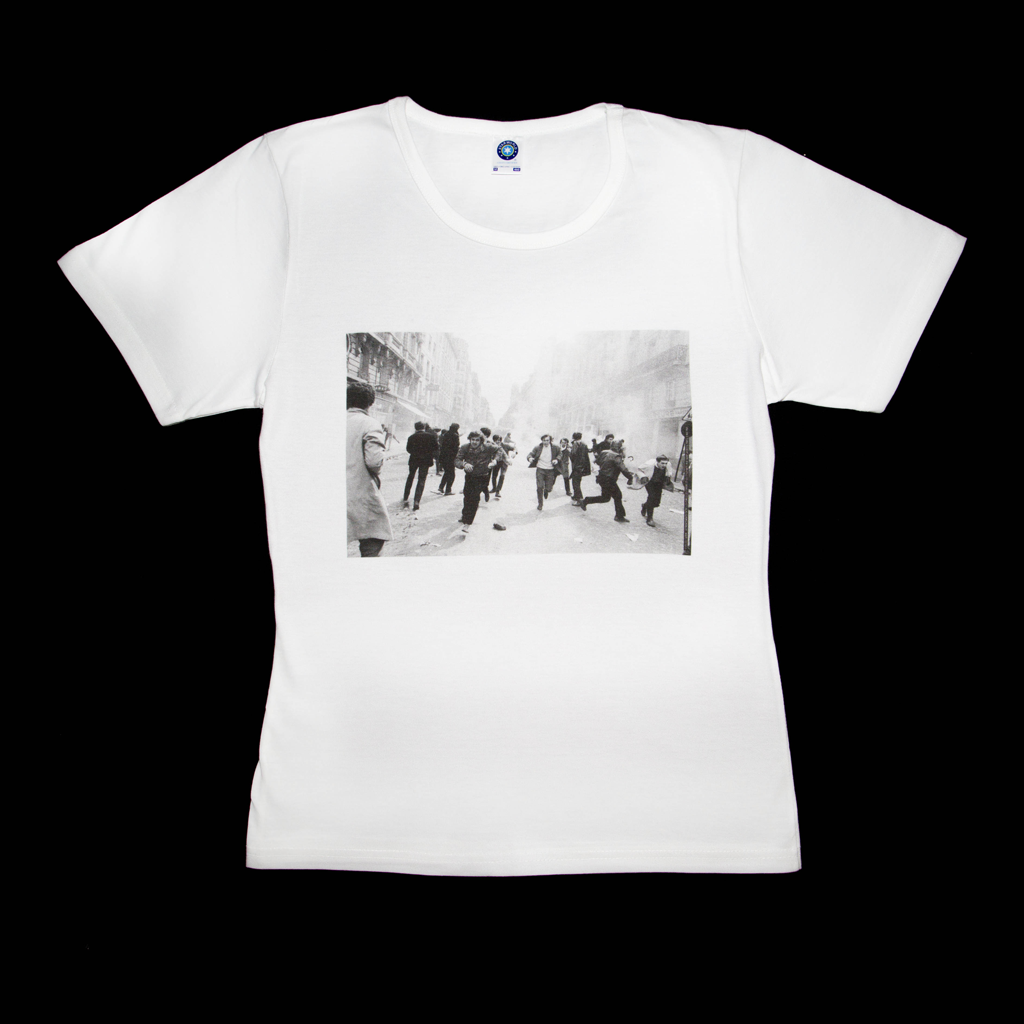Premium organic white T-shirt, Paris May 68