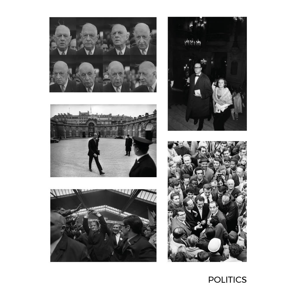 Gilles Caron Politics Large Postcards 1