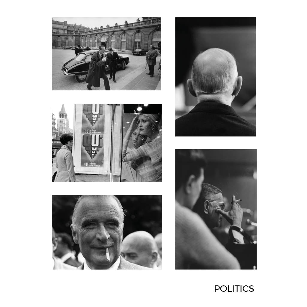 Gilles Caron Politics Small Postcards 2