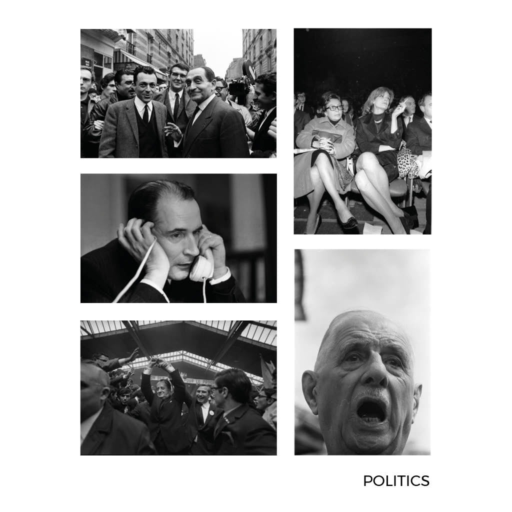 Gilles Caron Politics Small Postcards 4