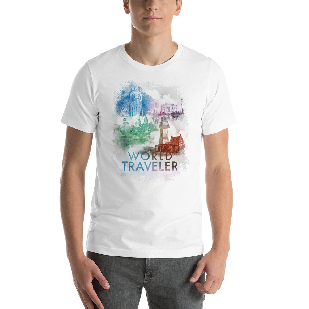 Short-Sleeve Unisex T-Shirt - World Traveler-2