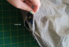 bag lining hole on slouchy bag