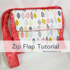 Create a pocket in the flap of a bag sewing tutorial on lorelei jayne