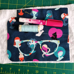 applique glasses of glasses case, easy sewing project