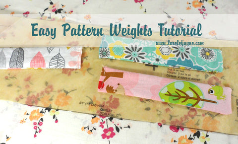 Easy Pattern Weights sewing tutorial on lorelei jayne