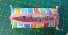Thin pencil case tutorial, boxy pencil case sewing tutorial