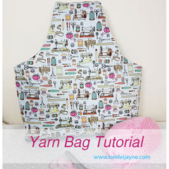 Yarn bag sewing pattern on Lorelei Jayne