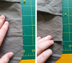 create pleats on the slouchy bag sewing pattern
