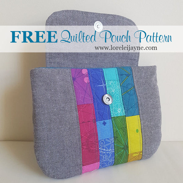 Quilted Pouch PDF Sewing Pattern  PDF Pattern free sewing patterns - Lorelei Jayne