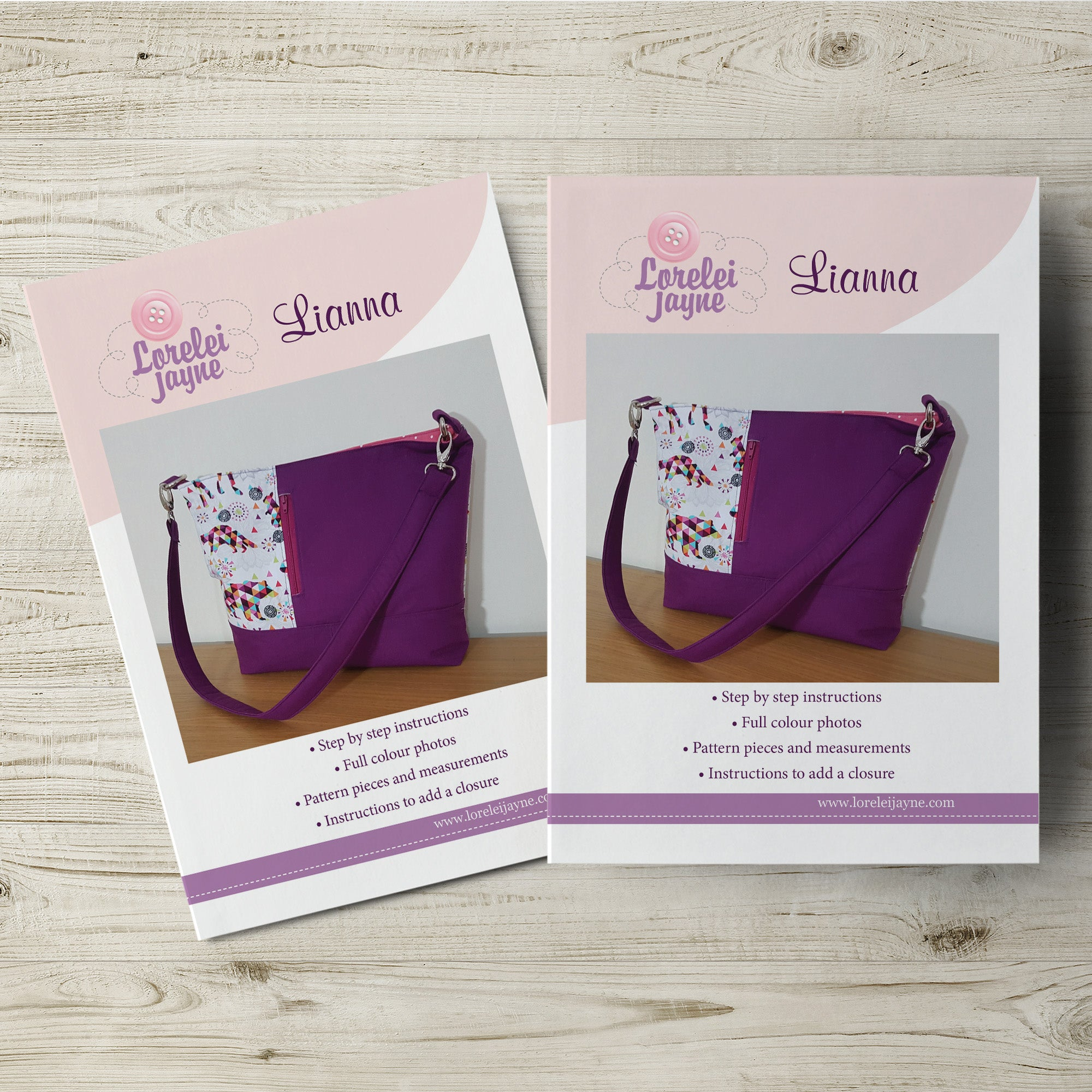 The Lianna Bag Paper Sewing Pattern  Paper Pattern free sewing patterns - Lorelei Jayne