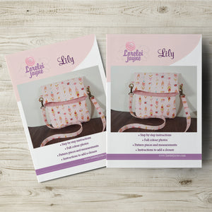 Lily Bag Paper Sewing Pattern  Paper Pattern free sewing patterns - Lorelei Jayne