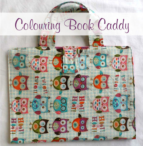 Colouring Book Caddy Pattern Pieces  Pattern Pieces free sewing patterns - Lorelei Jayne