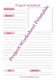 Project Worksheet Printable