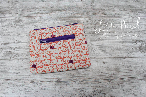 Lori Pouch Paper Sewing Pattern  Paper Pattern free sewing patterns - Lorelei Jayne