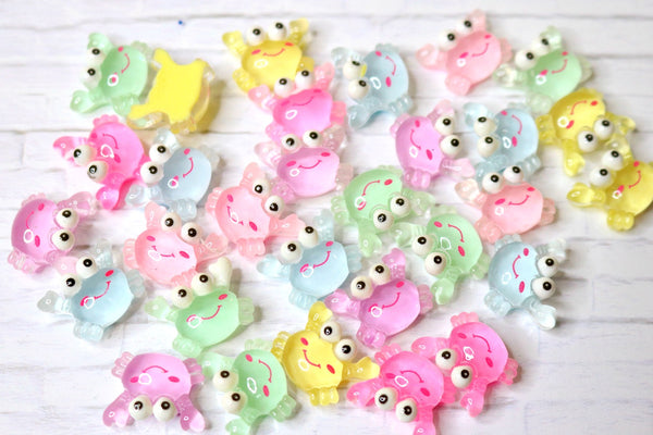 Pastel Crabs Slime Charms