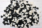 Black & White Heart Clay Sprinkles