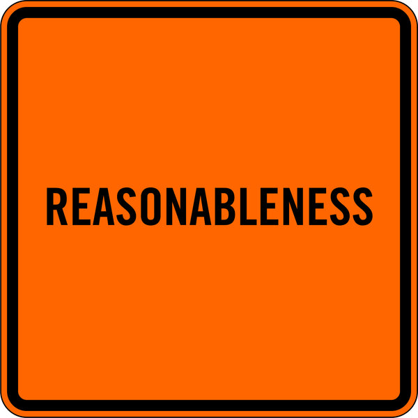 REASONABLENESS