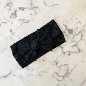 Ribbed Headband - Black