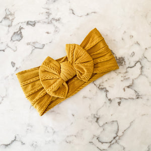 Sweater Knit Headband - Mustard