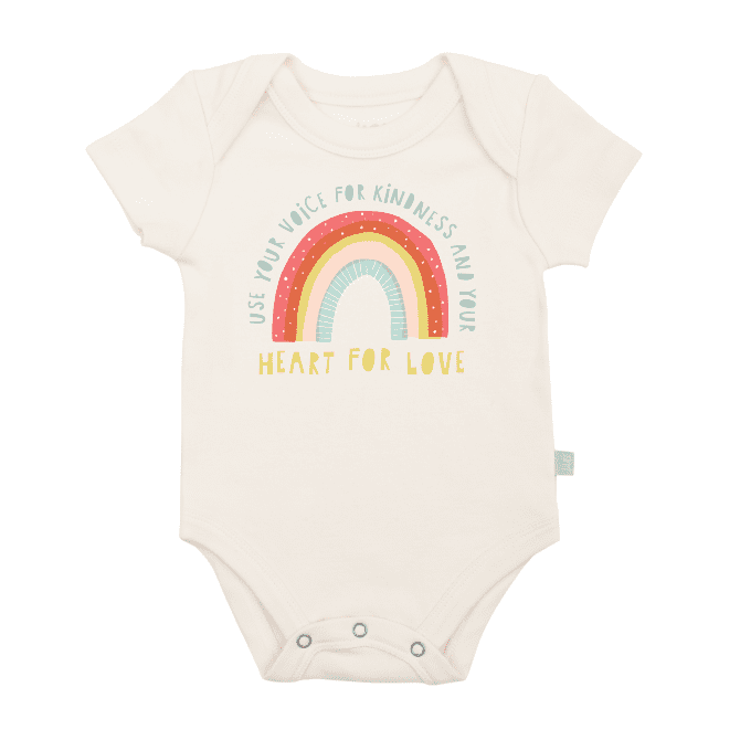 Finn + Emma Graphic Bodysuit - Kindness Rainbow