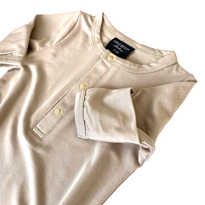Little Bipsy Baby Gown - Taupe