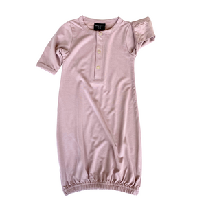 Little Bipsy Baby Gown - Mauve