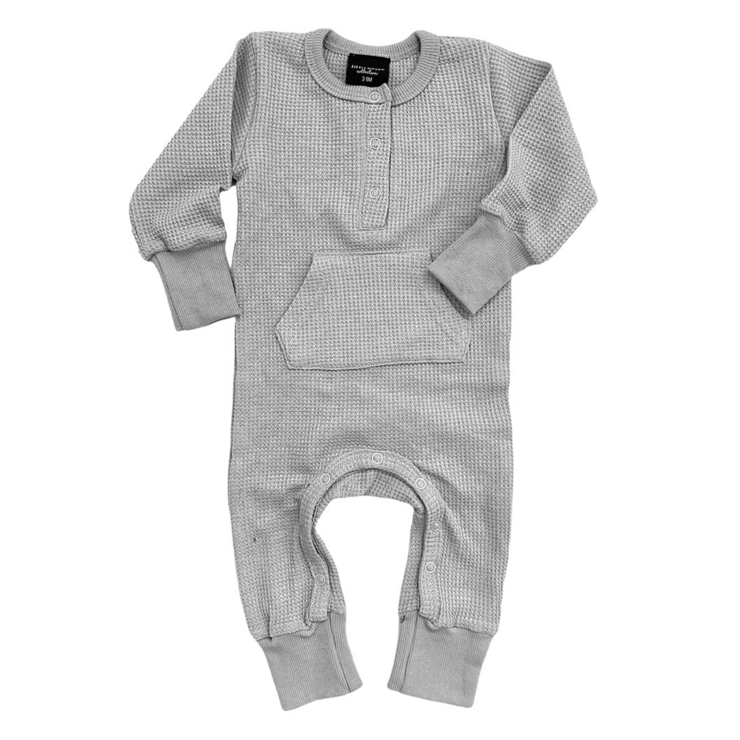 Little Bipsy Thermal Romper - Grey