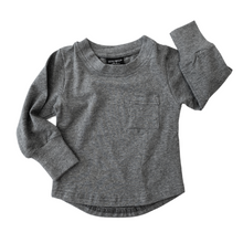 Load image into Gallery viewer, Little Bipsy Long Sleeve Pocket Tee - Charcoal