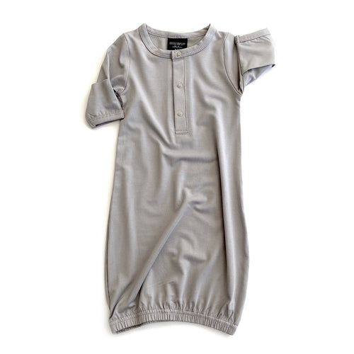 Little Bipsy Baby Gown - Grey