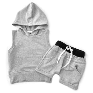 Little Bipsy Sleeveless Hoodie - Grey