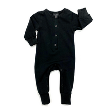 Load image into Gallery viewer, Little Bipsy Long Sleeve Classic Snap Romper - Black
