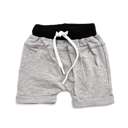 Little Bipsy Rolled Harem Short - Grey