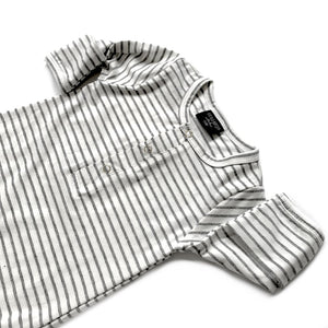 Little Bipsy Baby Gown - Grey Stripes