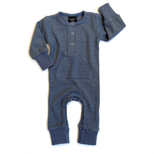 Little Bipsy Thermal Romper - Navy