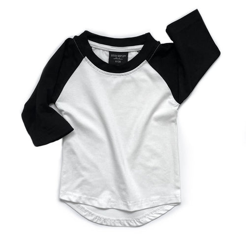 Little Bipsy Baseball Tee - Black