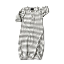 Load image into Gallery viewer, Little Bipsy Baby Gown - Grey Stripes