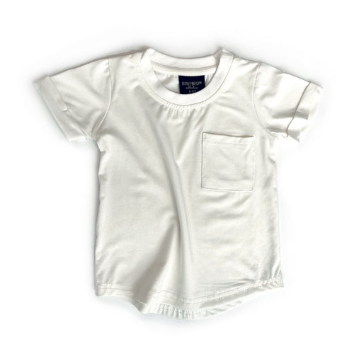 Little Bipsy Pocket Tee - Off-White