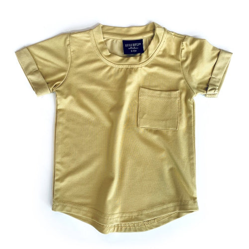Little Bipsy Pocket Tee - Mustard