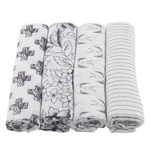 Monochrome Swaddle 4-Pack