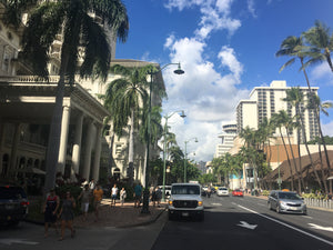 Picture-Hawaii waikiki beachstreet