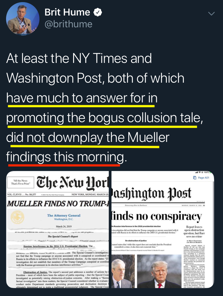 Brit Hume: Some Points for Breaking 'Bogus Tale' Trend