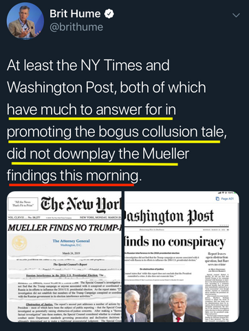 Brit Hume, Got to Give Points for Trying - NY Times & Washington Post