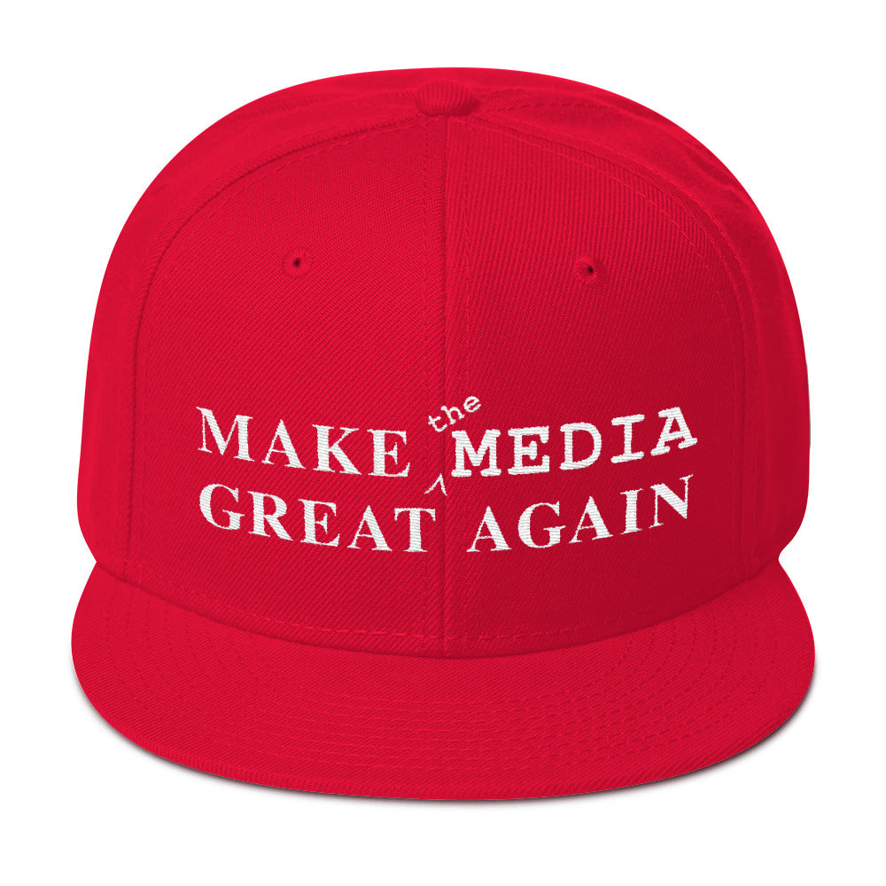 Make the Media Great Again - Wool Snapback