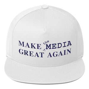 Make the Media Great Again - Classic Snapback, White