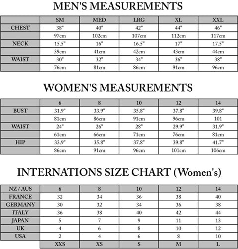 Us Men'S Clothes Sizes To Australian