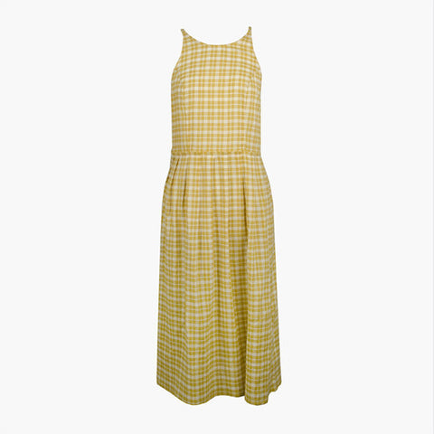 Lonely Patricia Dress - Gold Check