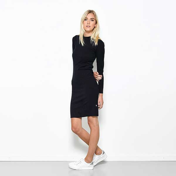 Five Each / Panelled Rib Dress - Navy