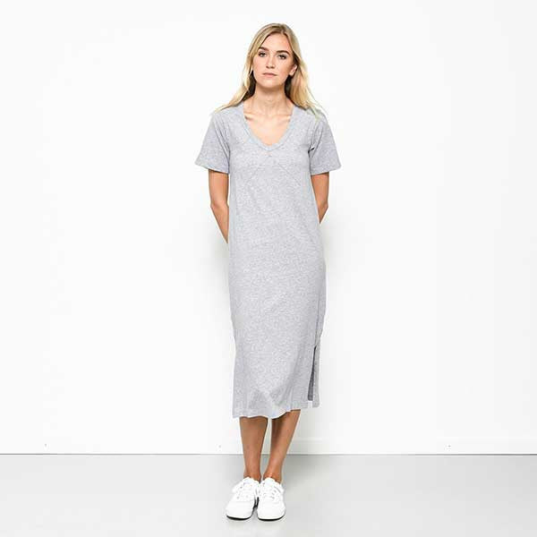 Five Each / Panelled Tee Dress - Grey