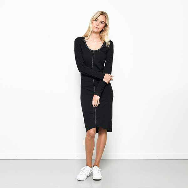 Five Each / Centre Seam Shift Dress - Black